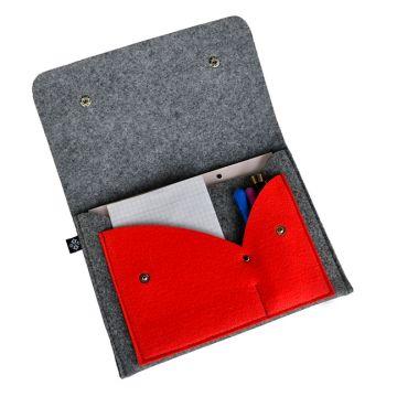 Organizer na notatki - szaro czerwony